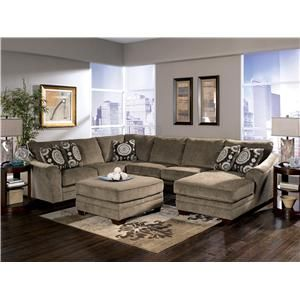 Cosmo Marble Sectional Sofa With Chaise Lounger By Signature Design By Ashley L Fish Sofa Sectional Indianapolis Gree Living Room Sectional Home Furniture Living Room Furniture