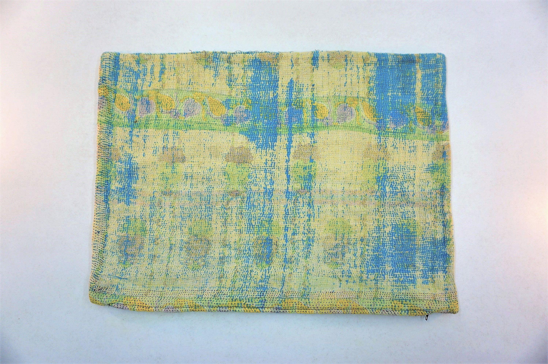 Stunning Vintage Kantha Cushion Cover Pillow Case x cms x
