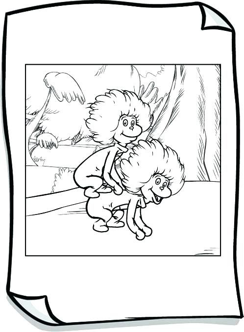 thing 1 and thing 2 coloring pages # 17
