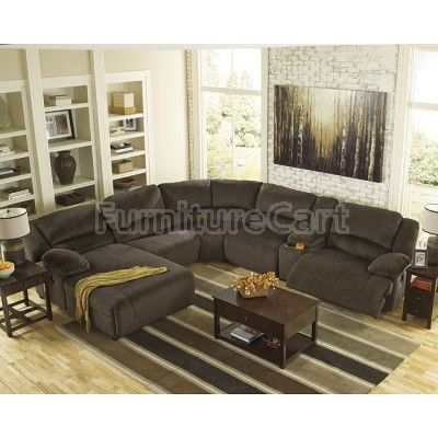 toletta chocolate reclining sectional set living room decor rh pinterest com