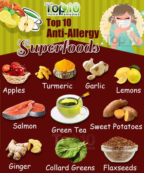 Top 10 Anti Allergy Foods Salud Allergy Remedies Home