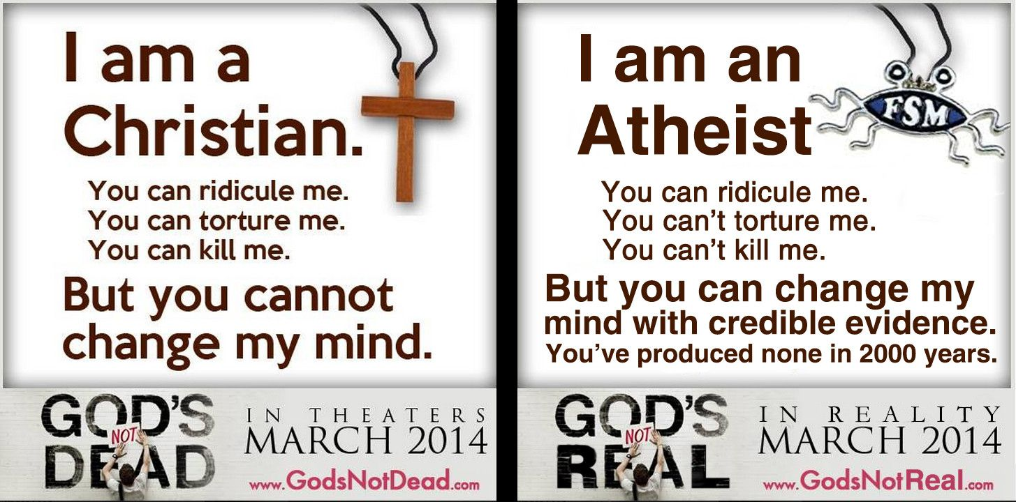 080a92dad00b6a29a4f88c674bb48ae9 christian vs atheist meme am a christian vs we am an atheist