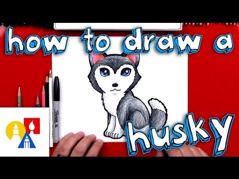 how to draw a cartoon husky youtube how to draw in 2019 rh pinterest com art hub how to draw a flower art hub how to draw a christmas tree