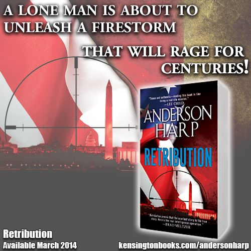 It's time for RETRIBUTION. Anderson Harp's debut thriller is available now! http://www.kensingtonbooks.com/andersonharp