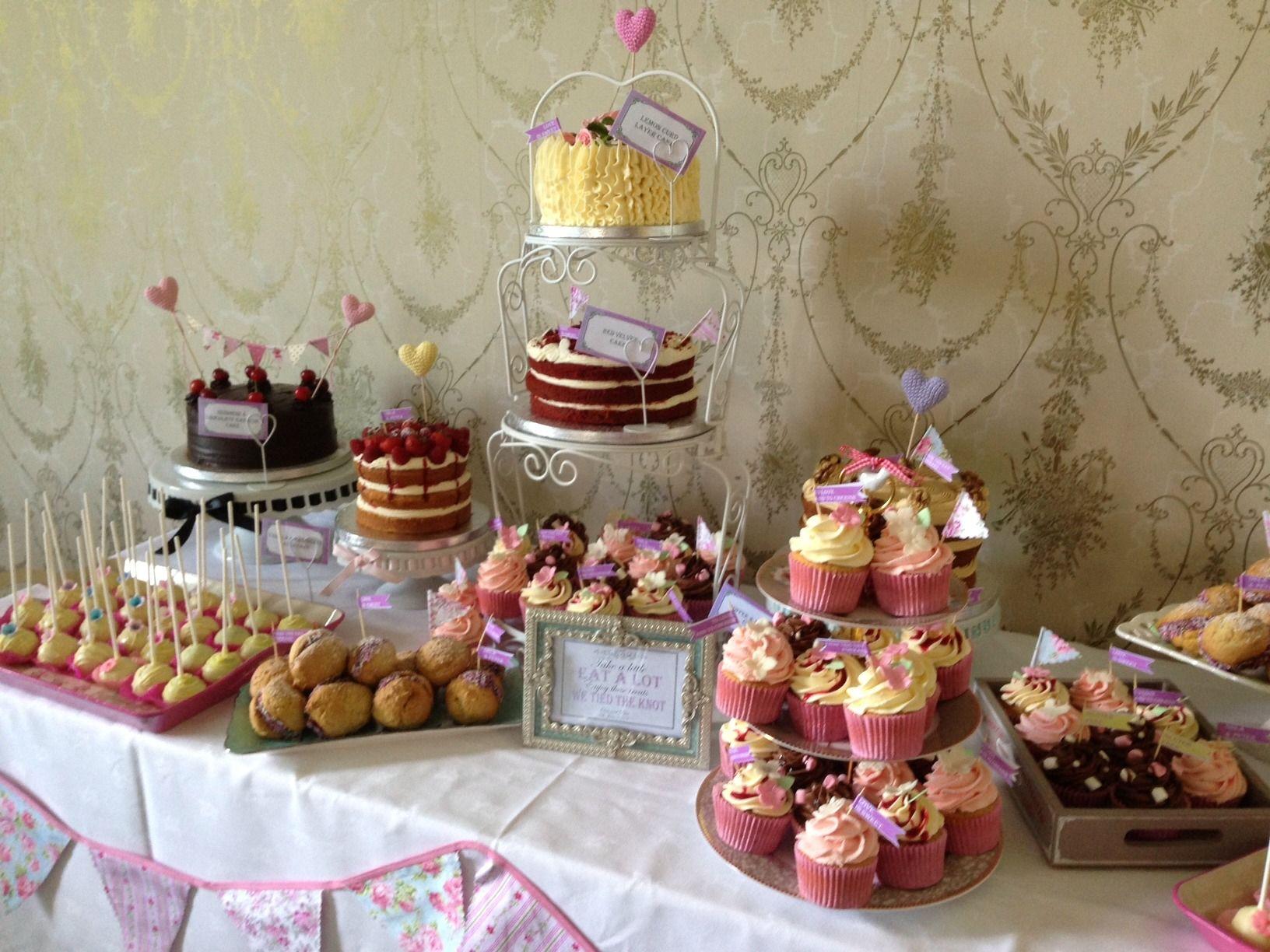 Kelly Lou Cakes wedding dessert table cakes