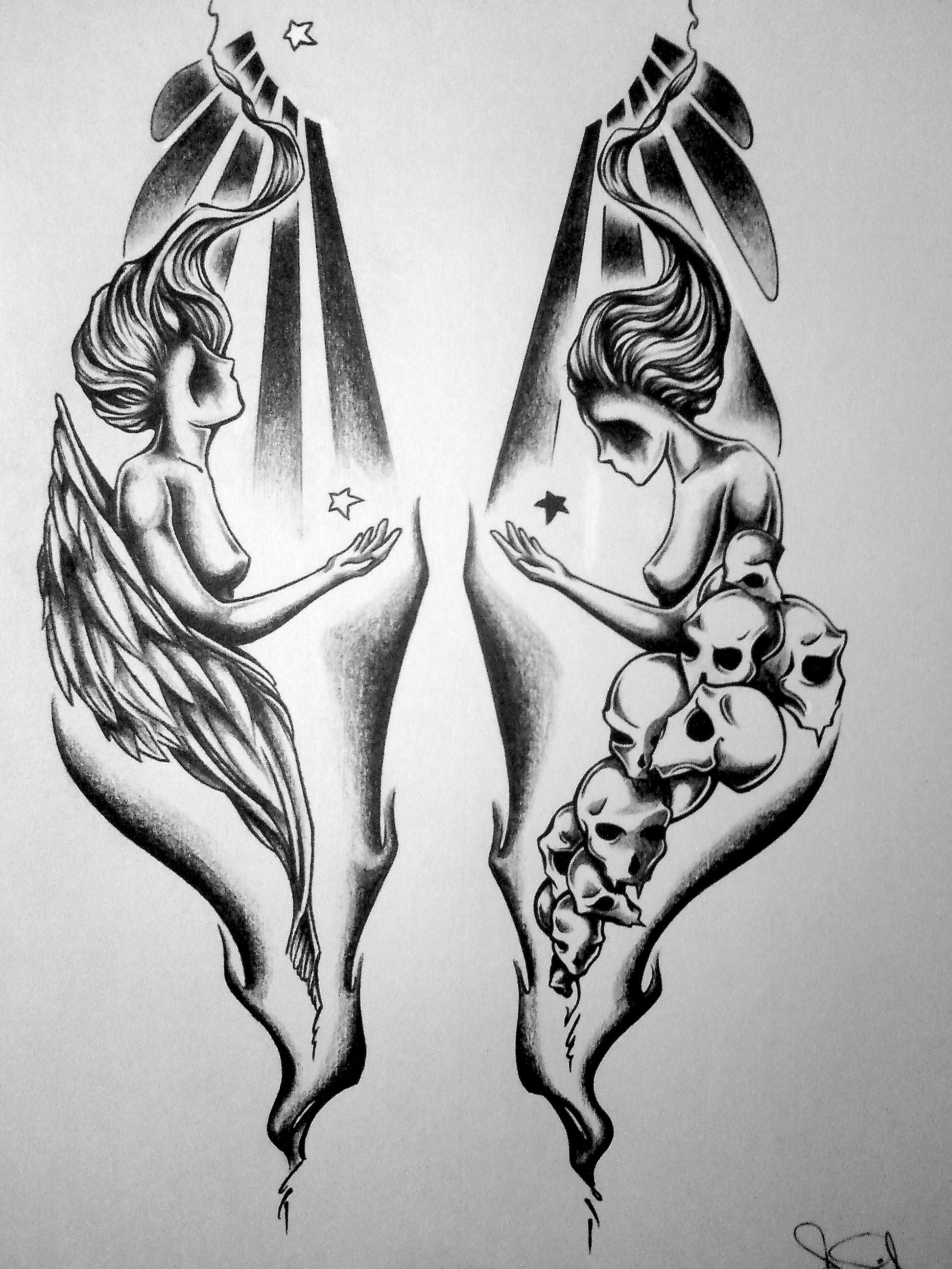 Simon lower arm tattoo\'s (left & right) | Easy Skull Tattoo ...