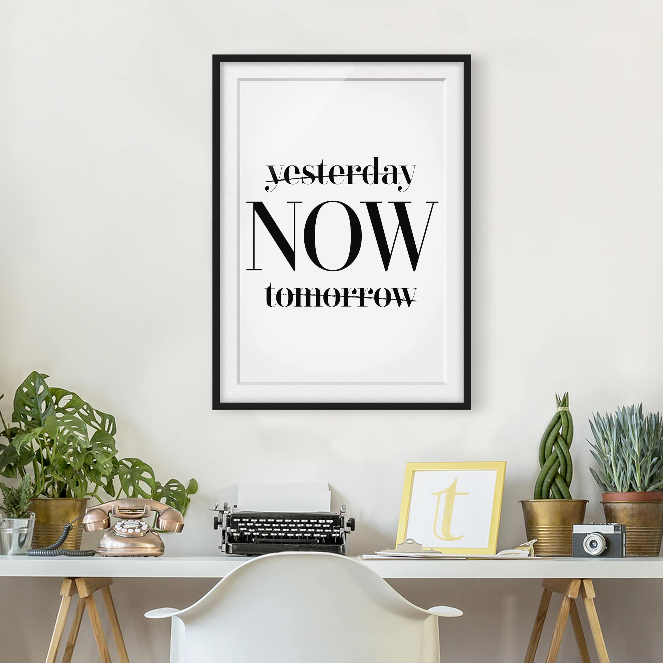 Poster con cornice - Yesterday Now Tomorrow - Verticale 4:3 | Poster ...