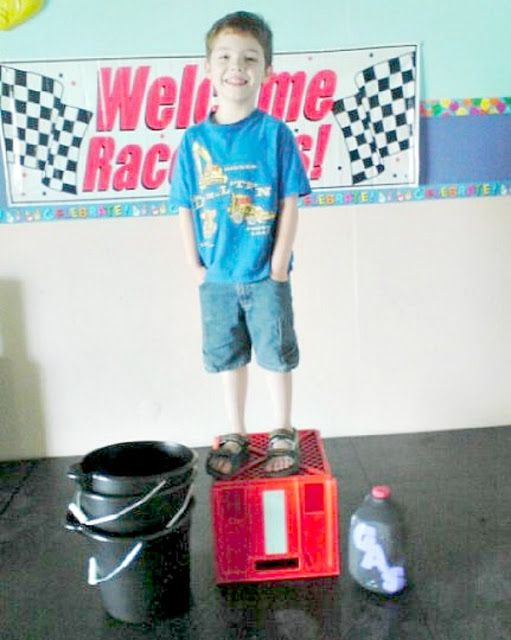 Race theme games and activities for kids birthday party or homeschool pe ideas. Indy 500 :)