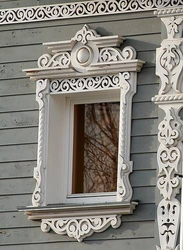 I LOVE LOVE LOVE! Carved Wood Decorations For House Exterior Walls, Windows  And Doors