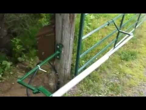Diy Automatic Gate Opener Project Youtube Landscaping
