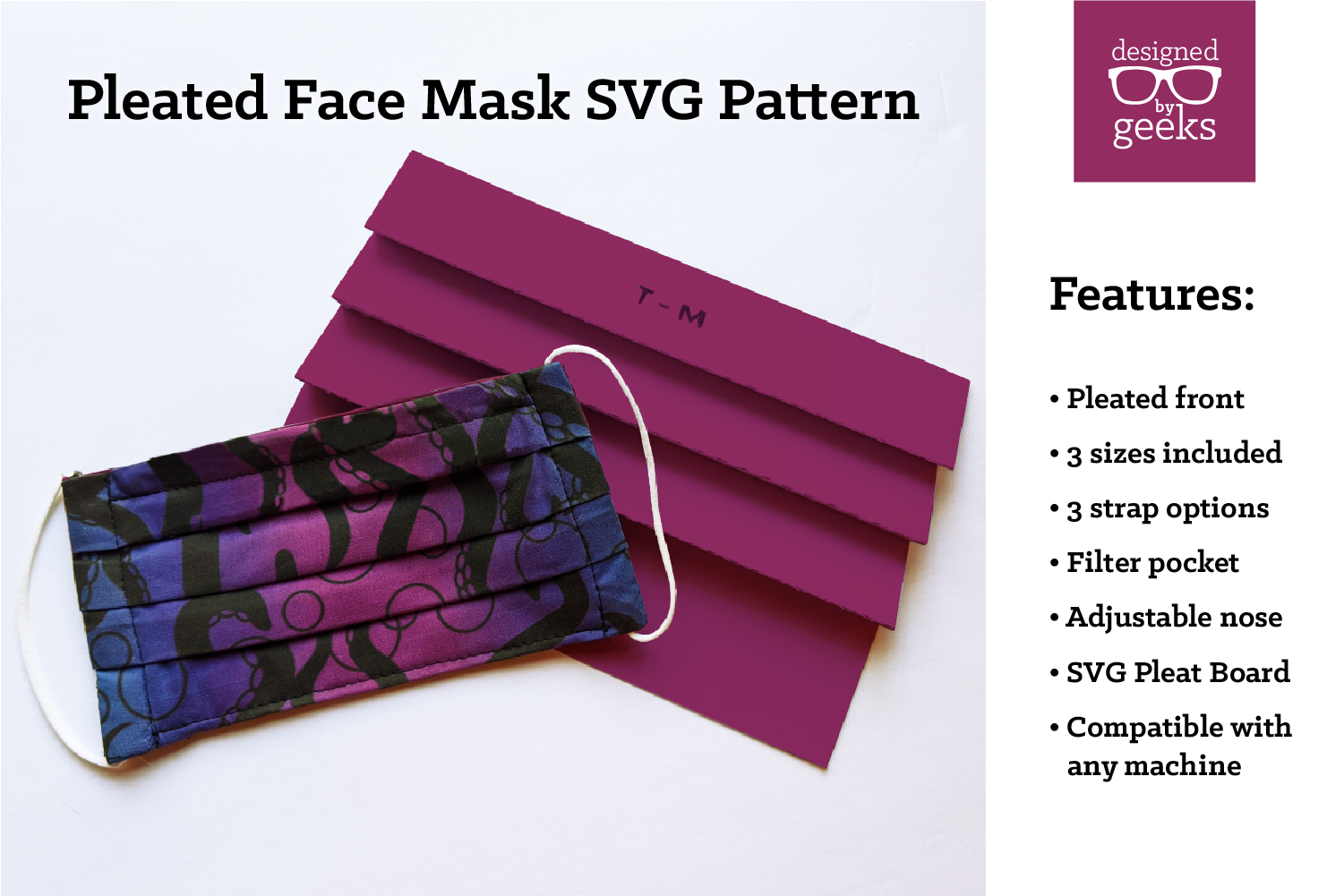 Pin on Face Masks with Pleats