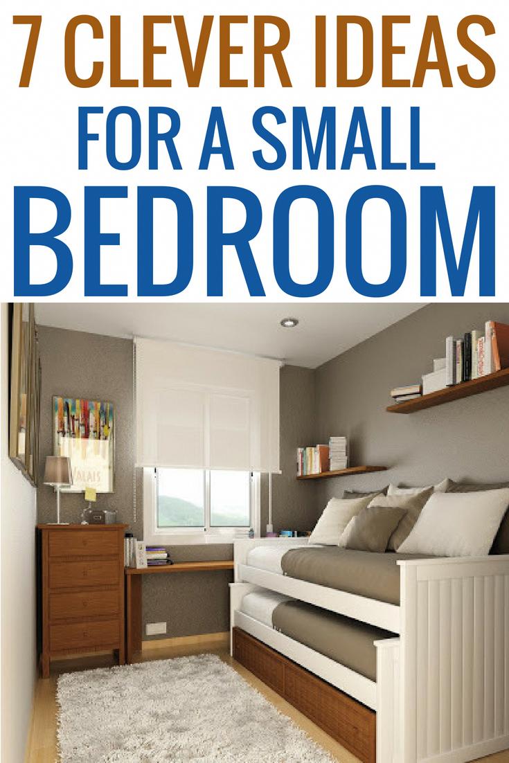 7 clever ideas for a small bedroom diy home decor decoration ideas rh pinterest com