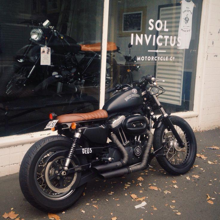 harley davidson #brat #caferacer cafe racer motorbike | harley