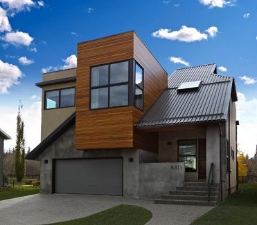 contemporary home with cedar horizontal siding images ... on Modern House Siding Ideas  id=23016