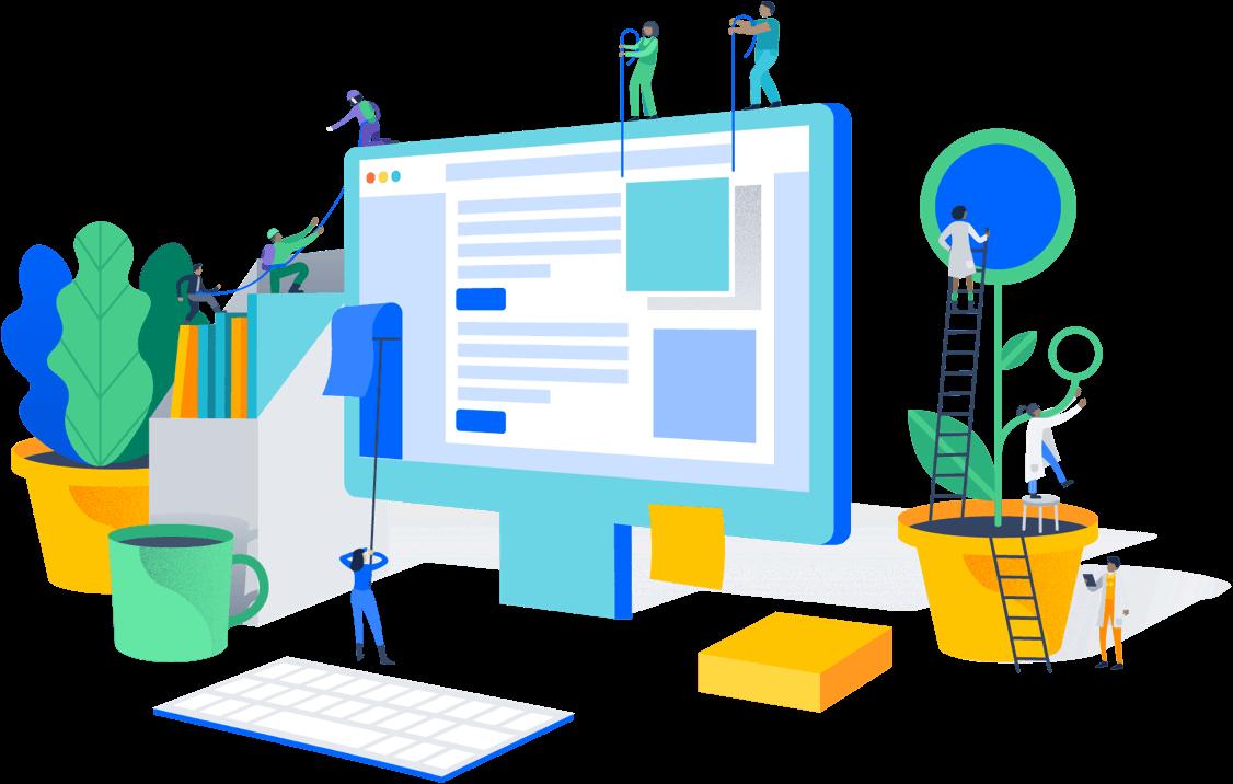 Planning Designing Developing Optimizing A Website Made Easy Business Illustration Isometric Design Illustration Design