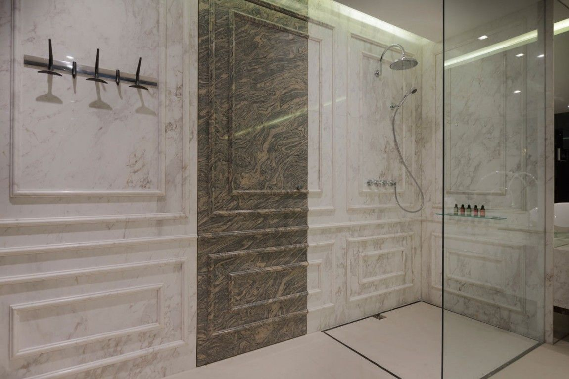 Beautiful Marble Shower Designs And The Decors