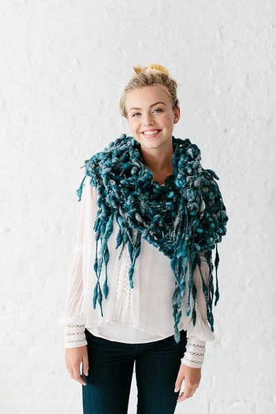 Knit Collage Pixie Runway Fringe Shawl Knitting Pattern Pdf Knit