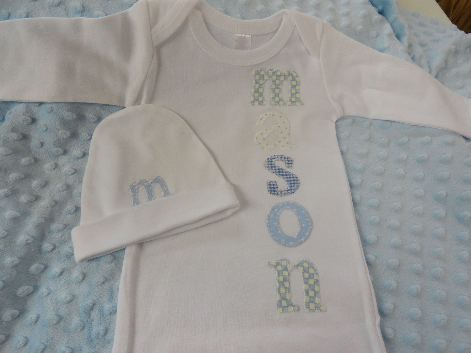 newborn baby boy gown with name. $31.00, via Etsy. | Gracie ...