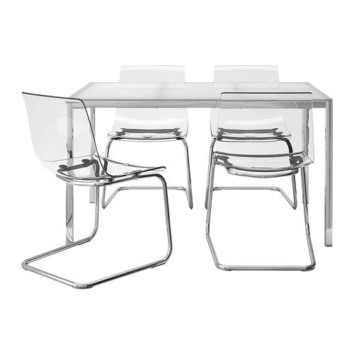 Ikea Torsby Tobias Table And 4 Chairs The Top Made Of Tempered Gl Is Easy To Clean More Durable Than Ordinary