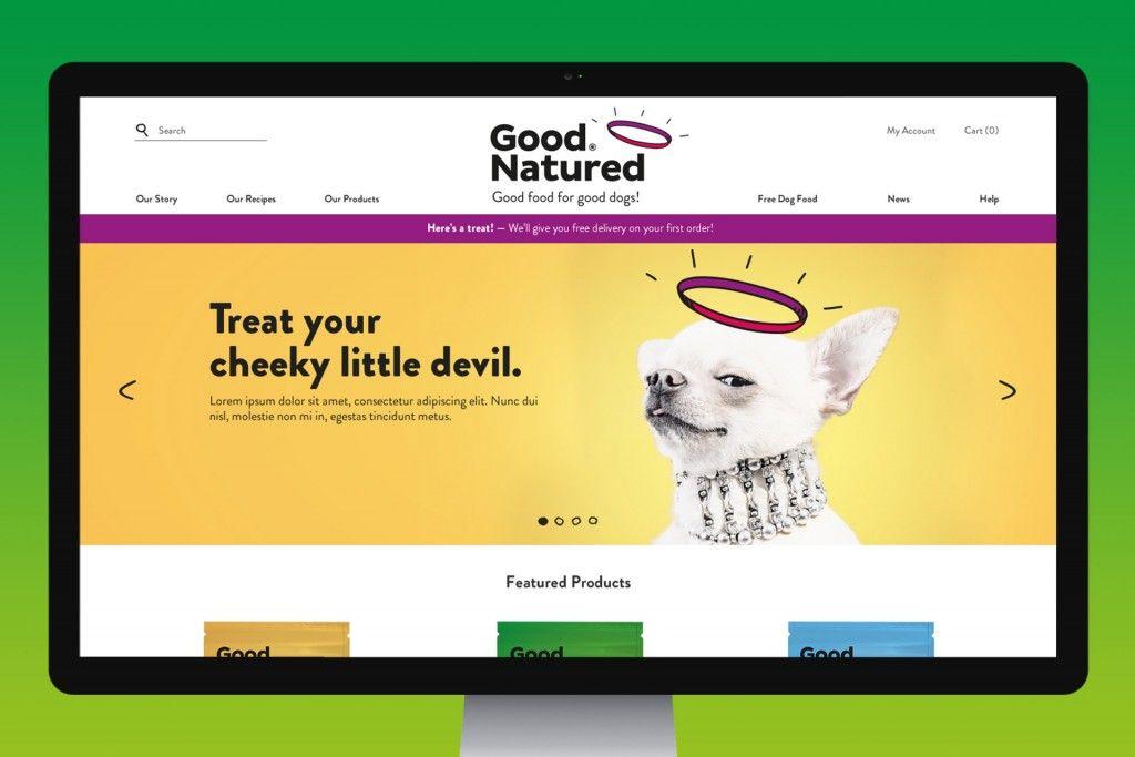 Good Natured website on desktop.
