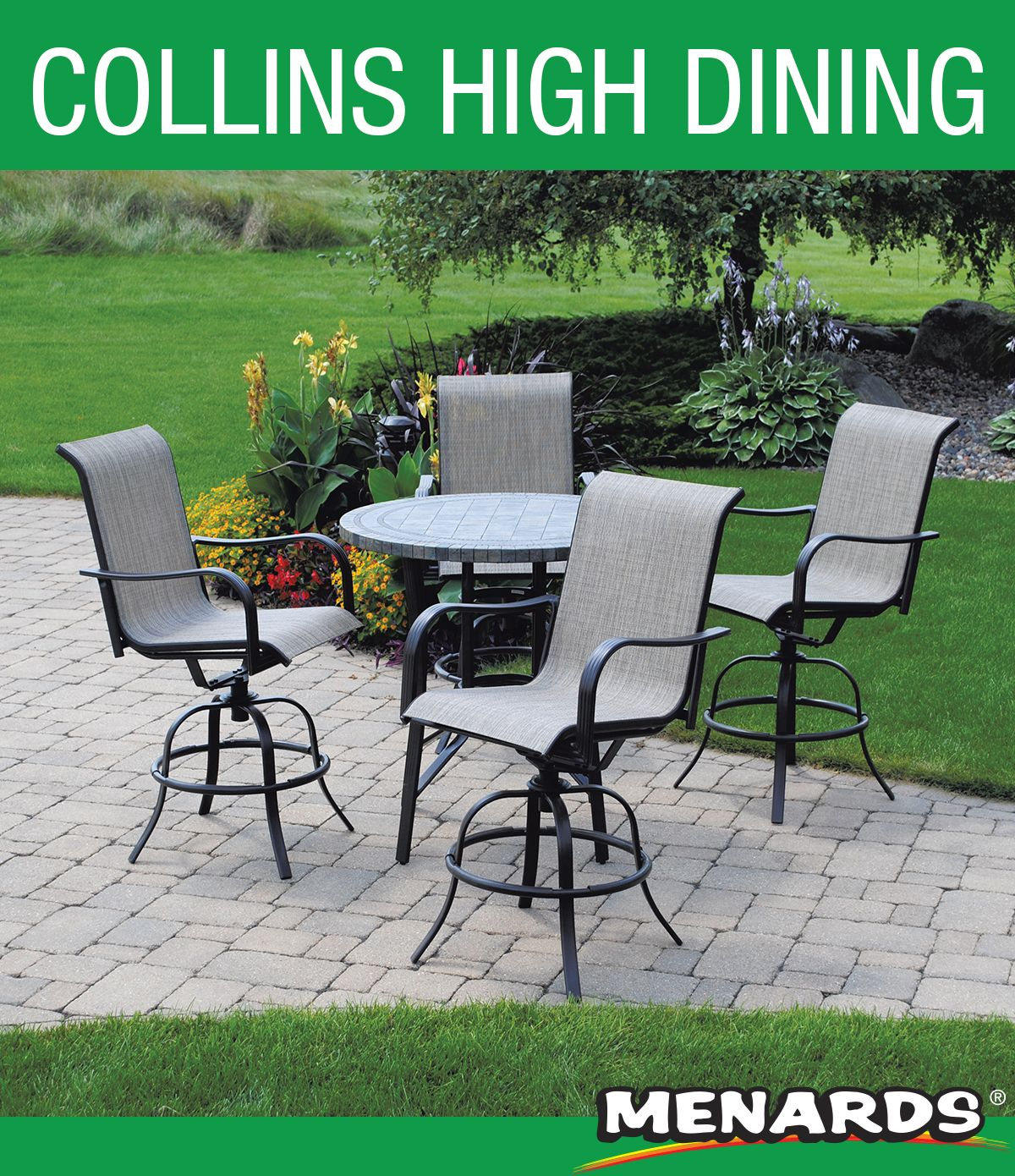Relaxed dining at its finest! These comfortable swivel