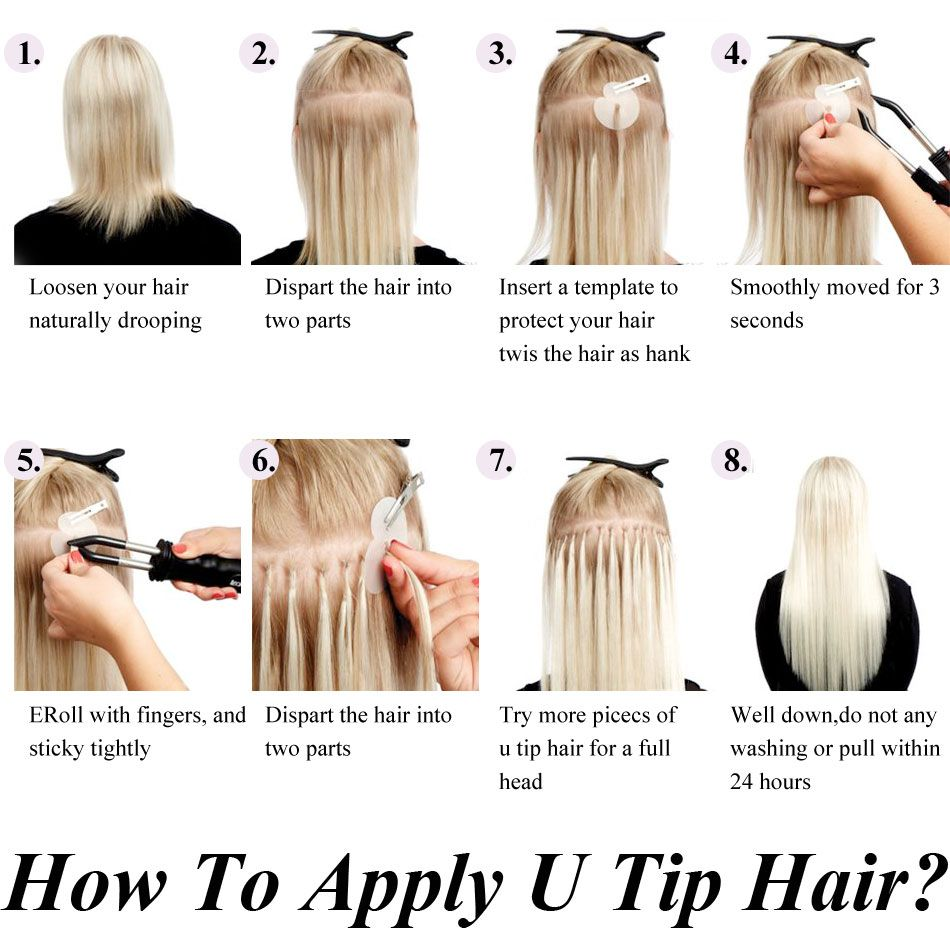 How To Apply Nailu Tip Hair Extensions Mrshair Hot Fusion Pre