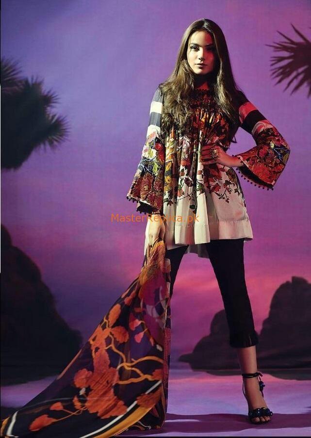 Sana Safinaz Luxury 4A Silk Collection 2017 Replica