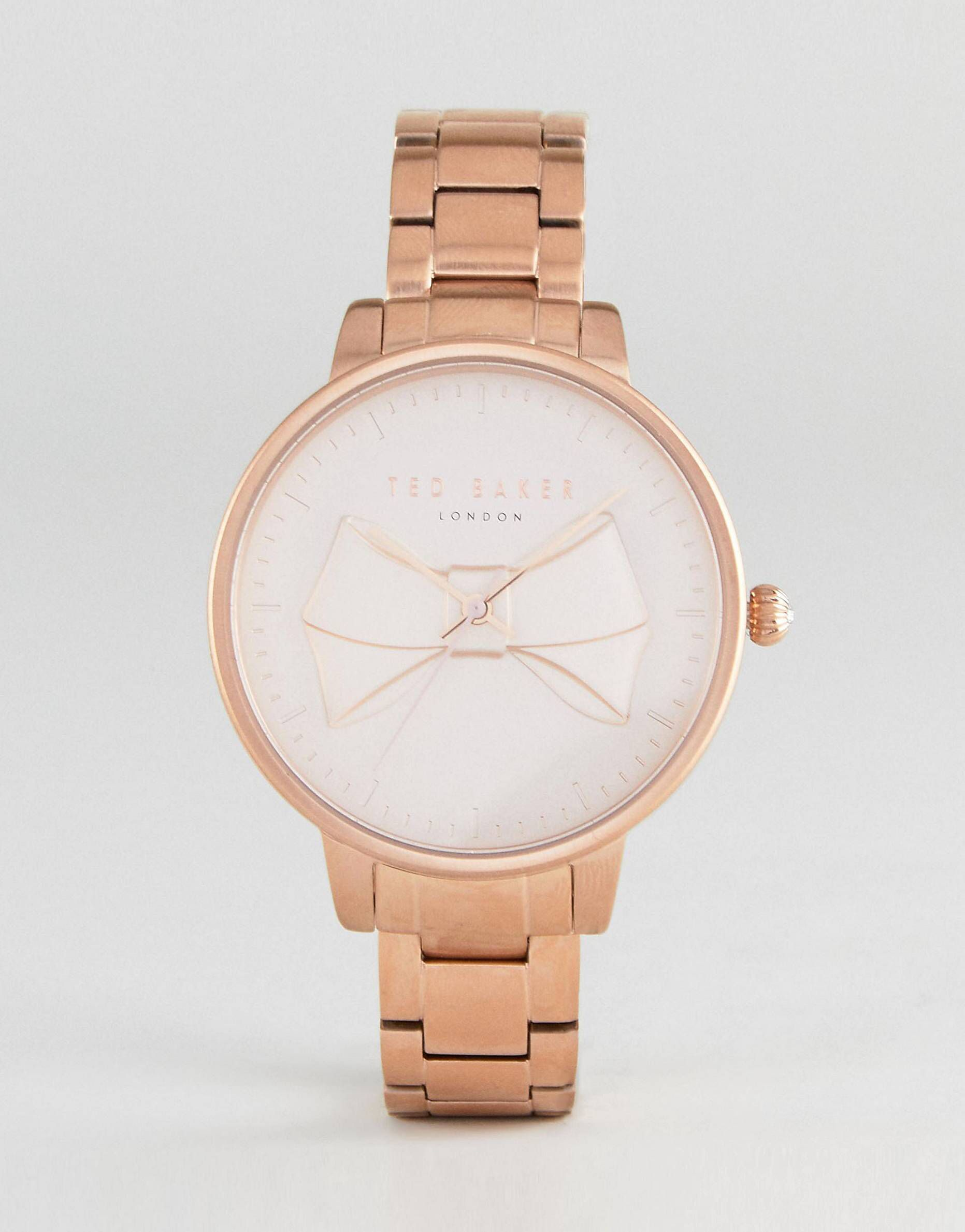 baker gold lyst watches pink tone rose watch in accessories gallery ted