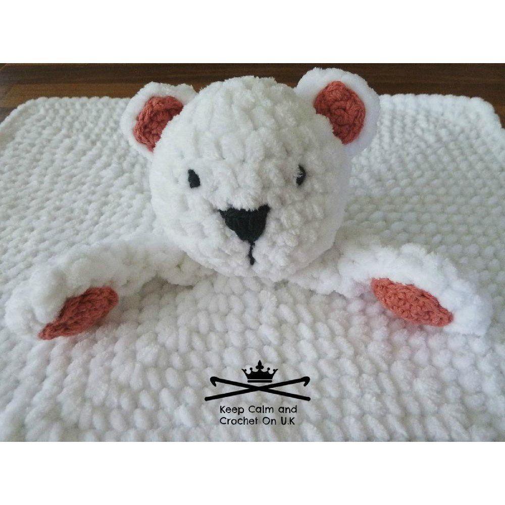 Nanuk the Polar Bear Lovey | Crochet | Pinterest | Manta, Mantas de ...
