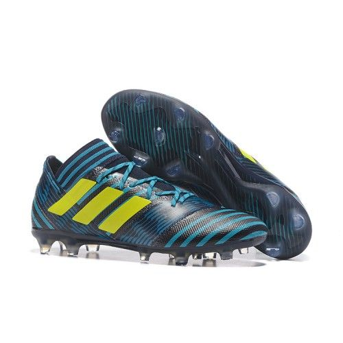 Billig Adidas Nemeziz 17-1 FG ACC Fotbollsskor Gron Svart Fluo