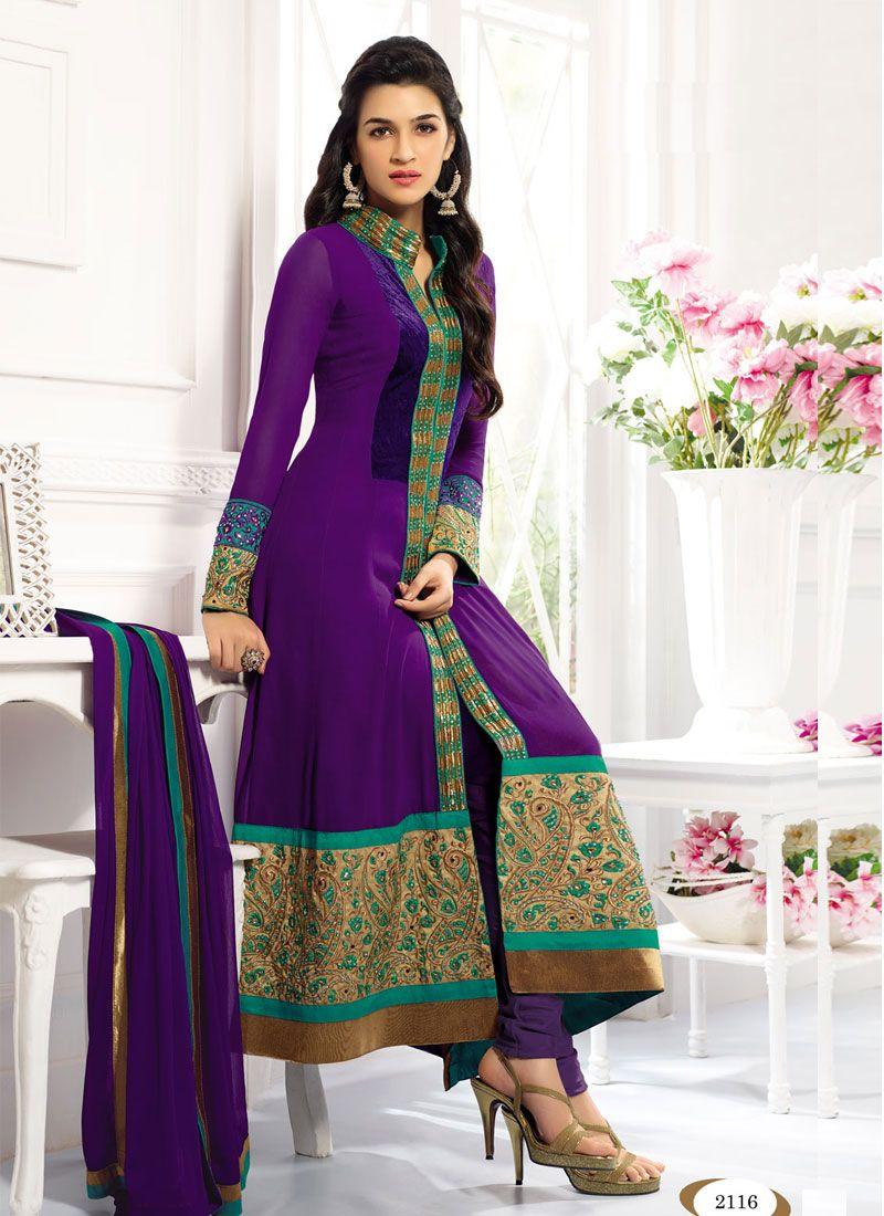 Purple New Designer Expensive Anarkali Suits SKU : SS2161-2116 ...