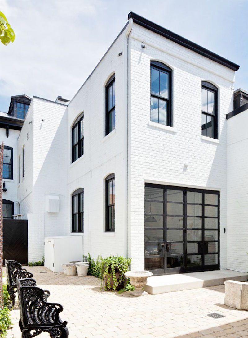 Stunning Steel Windows Homes White Brick Houses House