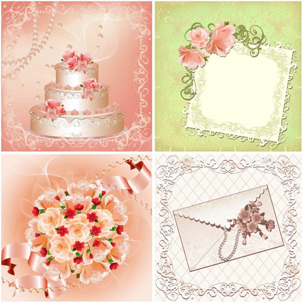 Free Wedding Backgrounds Wedding Cake Vector Vector Graphics