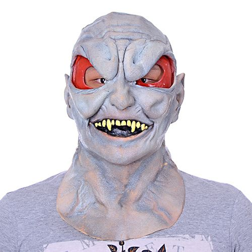 Click to Buy << Halloween Mask green latex mask bar show party ...