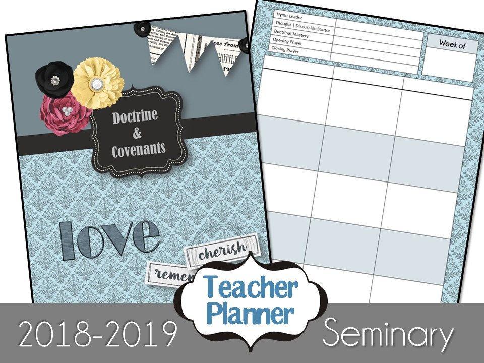 LDS Seminary Teacher Planner - Doctrine & Covenants - 2018