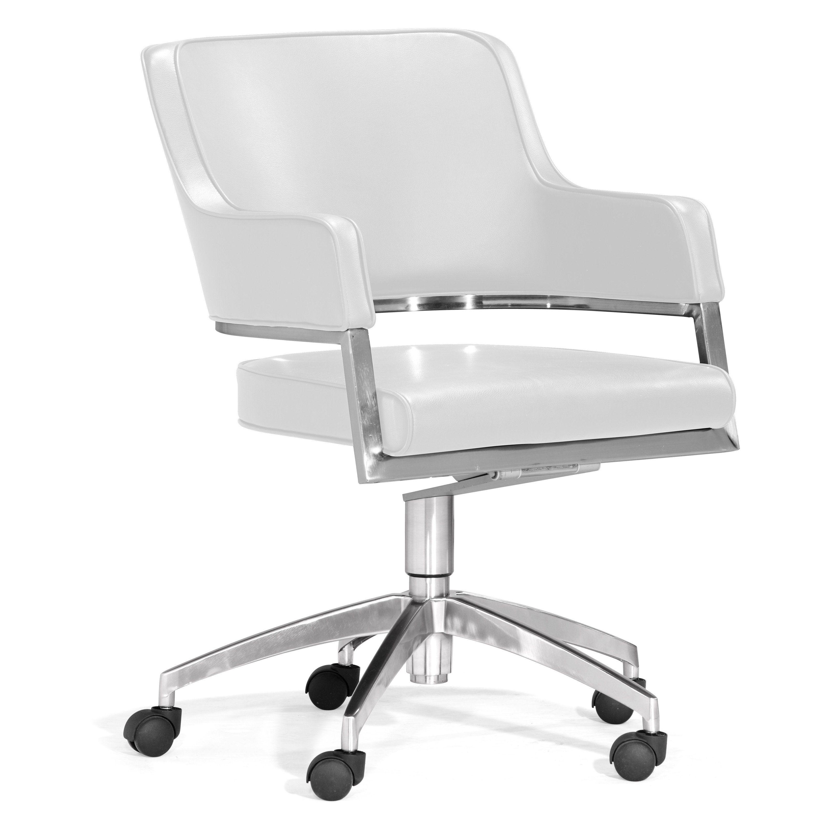 Modern performance office chair white 70000 black