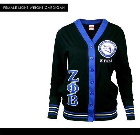 Big Boy Zeta Phi Beta Divine 9 S7 Light Weight Ladies Cardigan