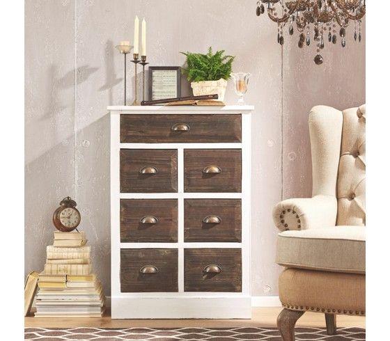 Wohnzimmer Kommoden, weiß-braune kommode von mömax http://www.moemax.de/wohnzimmer, Design ideen