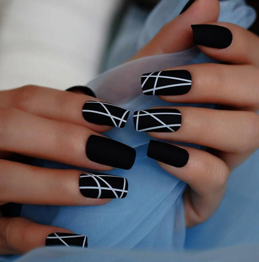 Maroon Matte Nails With Design until Nail Care For Seniors