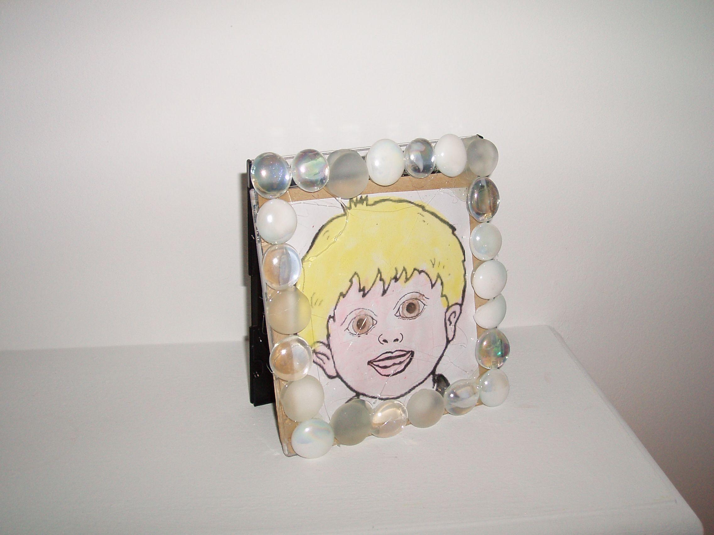 Kids Self Portrait On Cd Frames