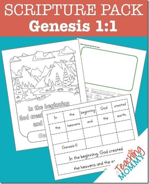 Genesis 1:1 Scripture Pack {Free Printables}   How to ...