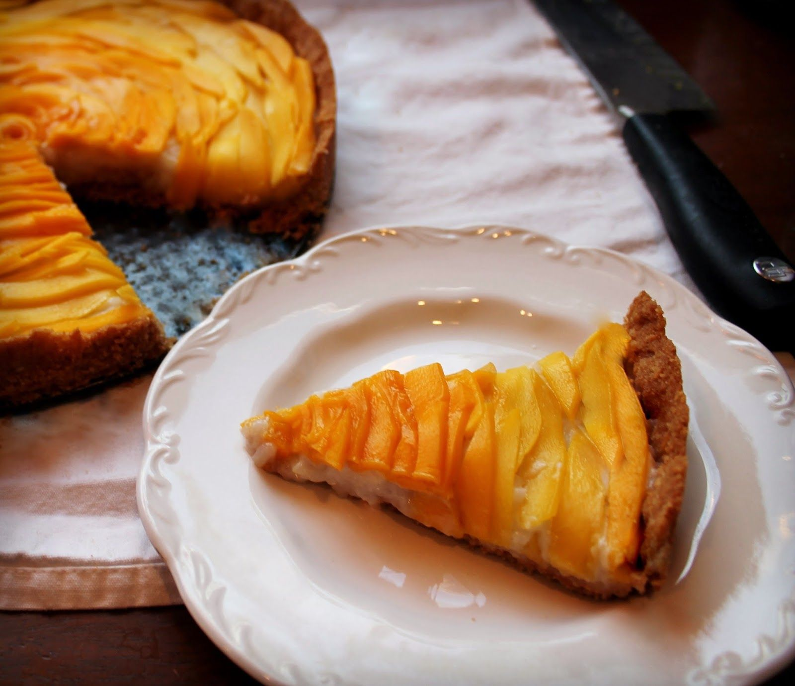 New Wave Domesticity: Mango Sticky Rice Inspired Tart with Coconut & Cashew Crust!