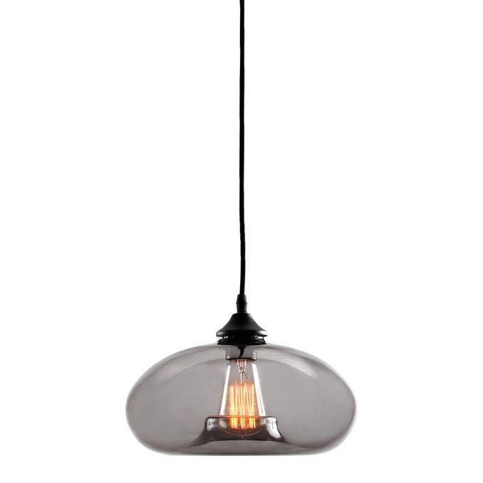 Lights Com 49 Glass Pendant Light Vintage Bulb Smoked Glass
