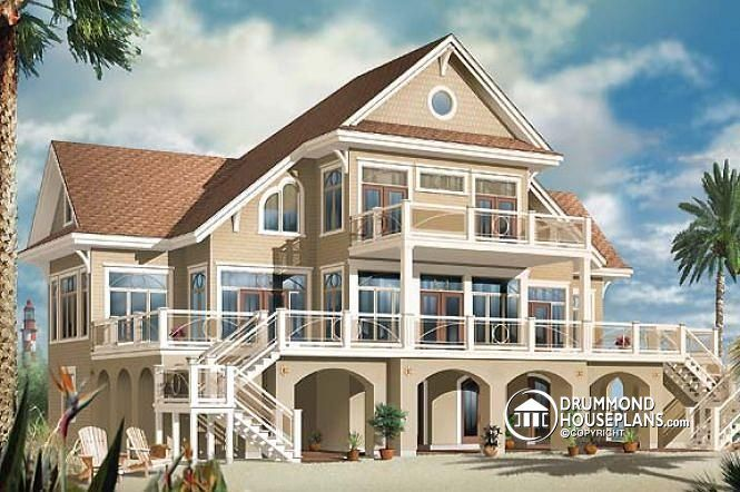 17 Best 1000 images about Lakefront Cottage home plans Country