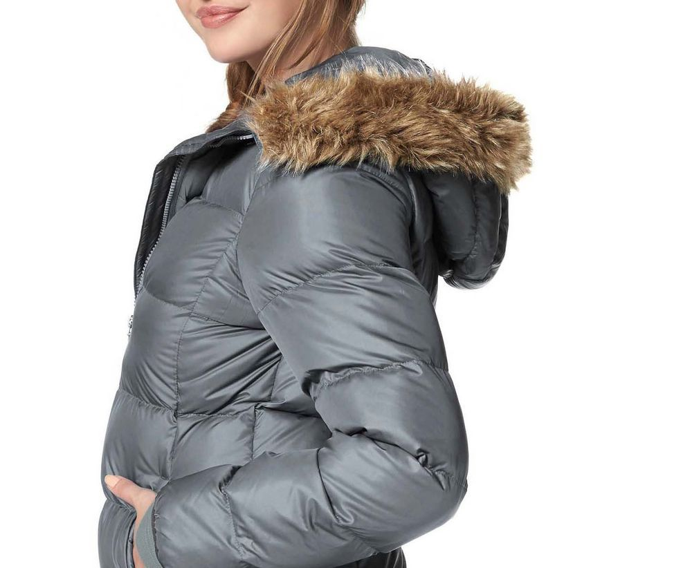 Damen Echt Daunenjacke Grau Neu Gr 38 Jacken Daunen Jacke Und Damen