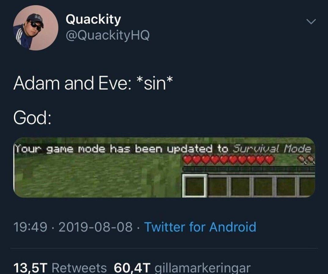 Quality Tweet Funny Christian Memes Minecraft Memes Christian Memes