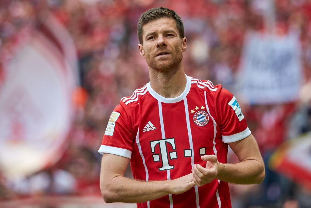 Xabi Alonso Of Bayern Muenchen Looks On During The Bundesliga Match
