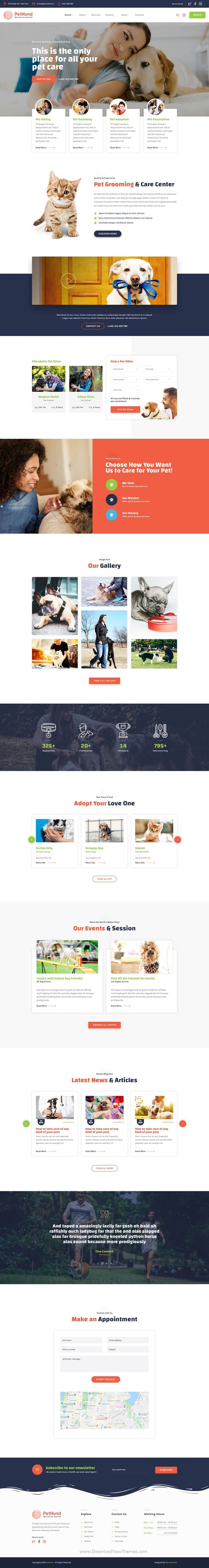 PetHund Pet Shop and Veterinary PSD Template in 2020