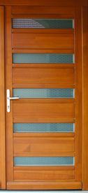 Wood treated front door with 5 point lock, Code: 20