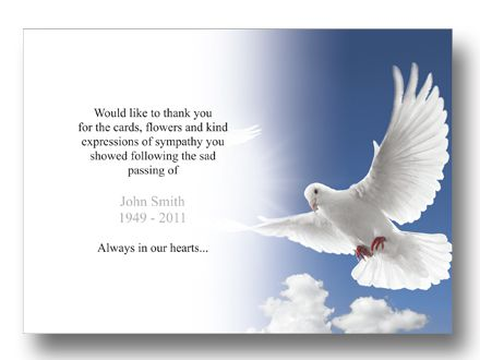 Funeral Thank You Cards Notes Wordings After Bereavement Card